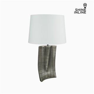Lampe de bureau Argent Céramique (40 x 9 x 66 cm) by Shine Inline