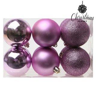Boules de Noël Christmas Planet 8251 6 cm (12 uds) Violet