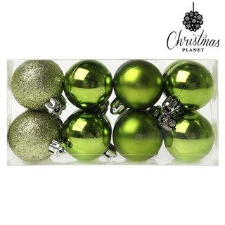 Boules de Noël Christmas Planet 6479 4 cm (16 uds) Vert