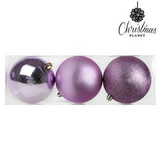 Boules de Noël Christmas Planet 7339 10 cm (3 uds) Pourpre