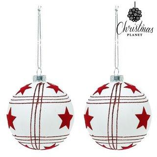 Boules de Noël Christmas Planet 8656 8 cm (2 uds)