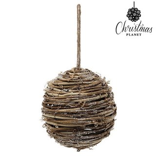 Boules de Noël Christmas Planet 4502 14 cm Bois Marron