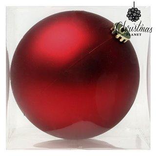 Boule de Noël Christmas Planet 8828 15 cm Verre Rouge