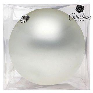 Boule de Noël Christmas Planet 8842 15 cm Verre Blanc