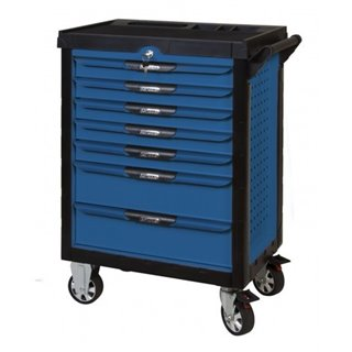 Servante PEARLline bleue 7 tiroirs équipée de 311 outils