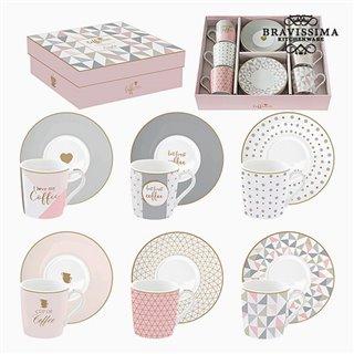 Lot de tasses Porcelaine Rose (6 pcs) by Bravissima Kitchen