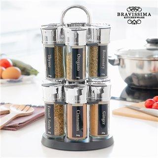 Étagère à Épices avec 12 Épices Bravissima Kitchen