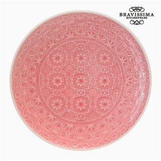 Assiette plate Porcelaine Corail by Bravissima Kitchen