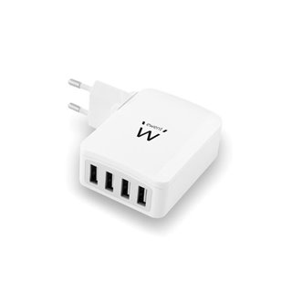 Ewent - Chargeur Usb Intelligent 4 Ports - 5.4 A