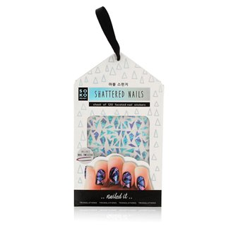 Autocollants pour ongle Shattered Nails Soko Ready (120 uds)