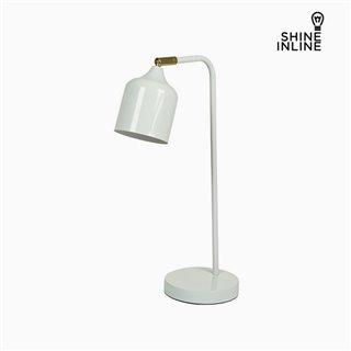 Lampe de bureau Blanc Aluminium (26 x 15 x 47 cm) by Shine Inline