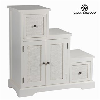 Meuble d'Appoint Bois mindi Blanc (88 x 37 x 90 cm) - Collection Let's Deco by Craftenwood
