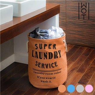 Panier à Linge Sale Super Laundry Service Wagon Trend-Couleur-Orange