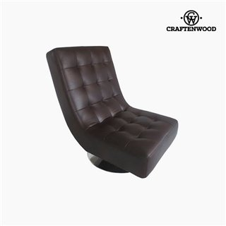 Fauteuil Cuir synthétique marron (94 x 70 x 85 cm) by Craftenwood