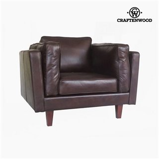 Fauteuil Cuir synthétique marron (104 x 92 x 80 cm) by Craftenwood