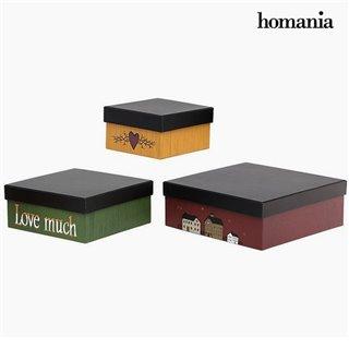 Boîte Décorative Homanía 2649 (3 pcs) Carré