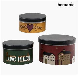 Boîte Décorative Homania 2687 (3 pcs) Ronde