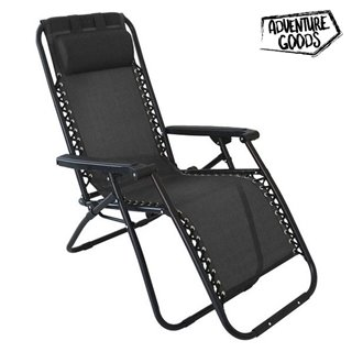 Chaise longue Adventure Goods 45821 (110 x 73 x 67 cm) Noir