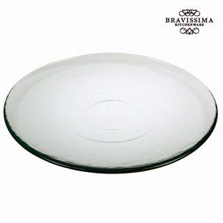 Assiette Plate en Verre Recyclé Lisse Transparent - Collection Pure Crystal Kitchen by Bravissima Kitchen