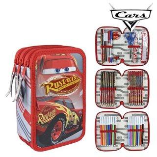 Pochette à crayons triple Cars 58539 Rouge