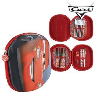 Pochette à crayons triple Cars 93493 Rouge