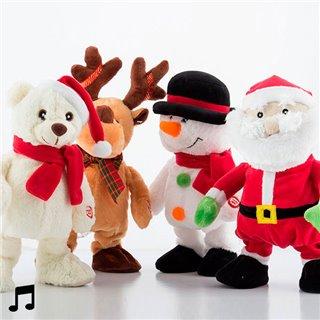 Poupée de Noël qui Chante et qui Danse-Design-Ours