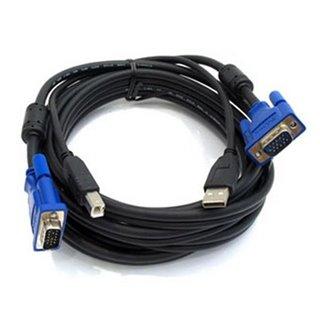 Câble vidéo/USB D-Link AISCOV0040 DKVM-CU 1,8 m VGA (DB-15)