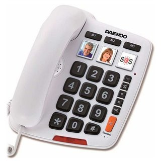 Téléphone Sans Fil Daewoo DTC-760 LED Blanc