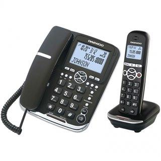Téléphone Sans Fil Daewoo DTD5500 DECT LCD LED COMBO