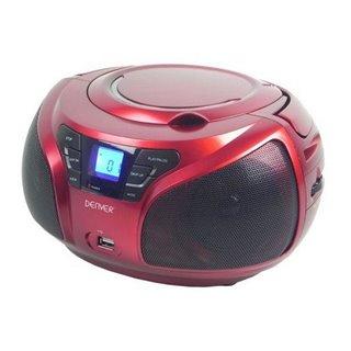 Radio CD Denver Electronics TCU-206RD Rouge