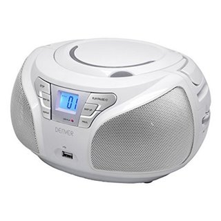 Radio CD Denver Electronics TCU-206WH Blanc