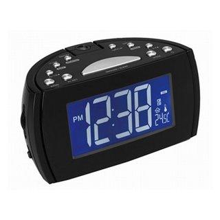 Radio réveil avec projecteur LCD Denver Electronics 224810 Noir