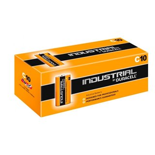 Piles Alcalines DURACELL Industrial DURINDLR14C10 C 1.5V 7.75 Ah (10 pcs)