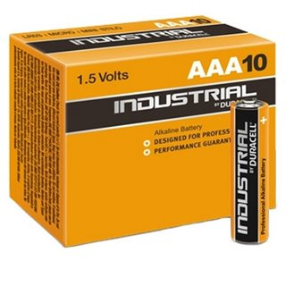 Piles Alcalines DURACELL Industrial DURINDLR3C10 LR03 AAA 1.5V (10 pcs)