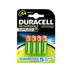 Piles Rechargeables DURACELL AA NiMh 2400 mAh (4 pcs)