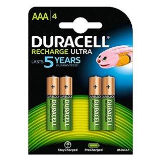 Piles Rechargeables DURACELL DURDLLR03P4B HR03 AAA 800 mAh (4 pcs)