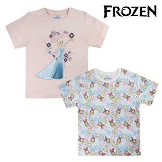 T shirt à manches courtes Enfant Frozen 6398 Bleu ciel (taille 4 ans)