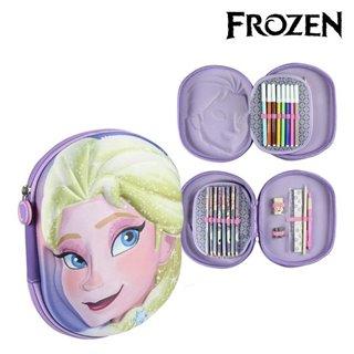 Pochette à crayons triple Frozen 58454 Lila