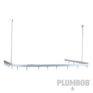 Rail modulable pour rideau de douche - Blanc