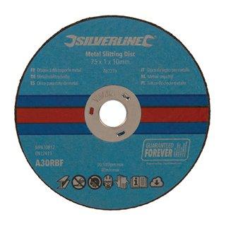 Lot de 10 disques à découper le métal - 75 x 1 x 10 mm