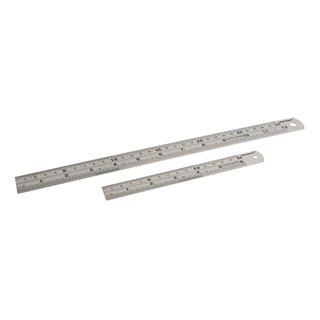 Réglets en acier inoxydable, 2pcs - 150 et 300 mm