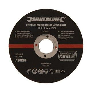 Lot de 10 disques à découper le métal universels qualité Prémium - 115 x 1 x 22,23 mm