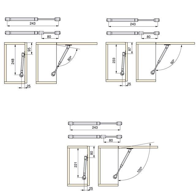 Lot de 7 passe-câbles Circum Emuca D. 80 mm à encastrer en zamak finition chromé