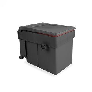 Poubelle de recyclage Recycle Emuca pour fixation sur porte et conteneur de 15L