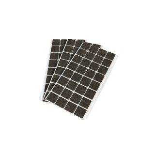Sachet de 150 patins en feutre adhésifs Emuca carrés 20 x 20 mm
