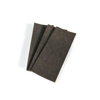 Sachet de 3 patins en feutre adhésifs Emuca rectangulaires 100 x 250 mm