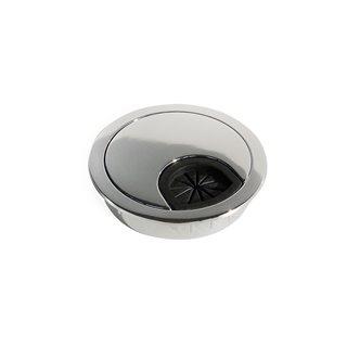 Passe-câbles Circum Emuca D. 60 mm à encastrer en zamak finition chromé