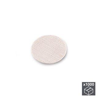 Lot de 1.000 pastilles adhésives Emuca D. 13 mm en finition effet textil beige