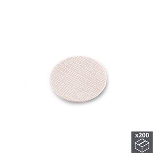 Lot de 200 pastilles adhésives Emuca D. 13 mm en finition effet textil beige