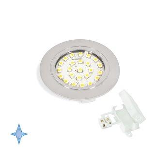 Spot LED Crux-in Emuca lumière blanc froid à encastrer finition gris métallisé